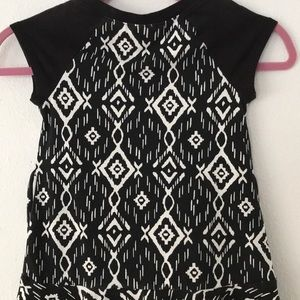 Justice Dresses - Justice B/W Aztec Print Dress with Ties